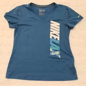 {Nike} Women's Lacrosse Short Sleeve Dri Fit Tee M